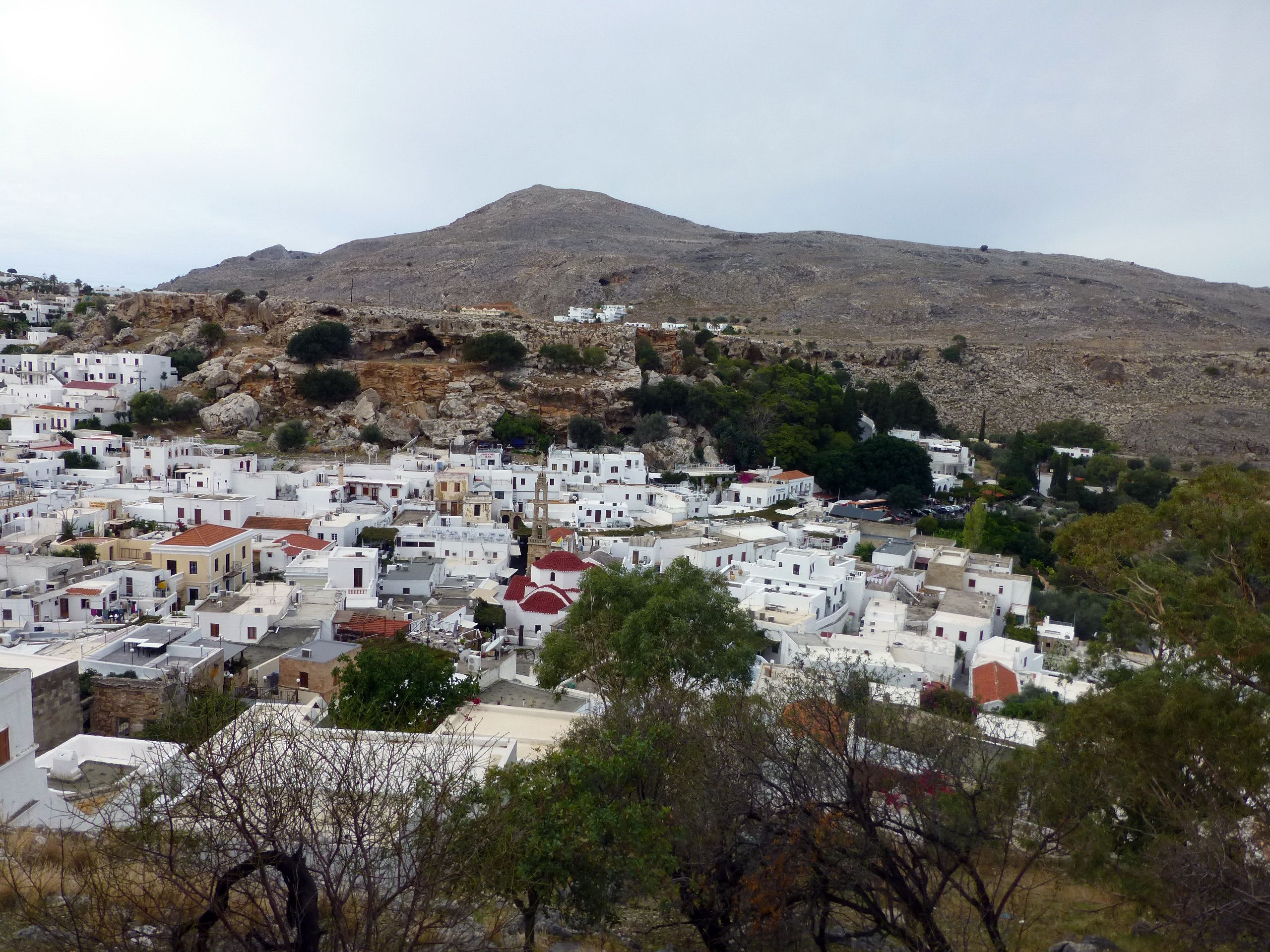 View of Lindos on the Greek island of Rhodes