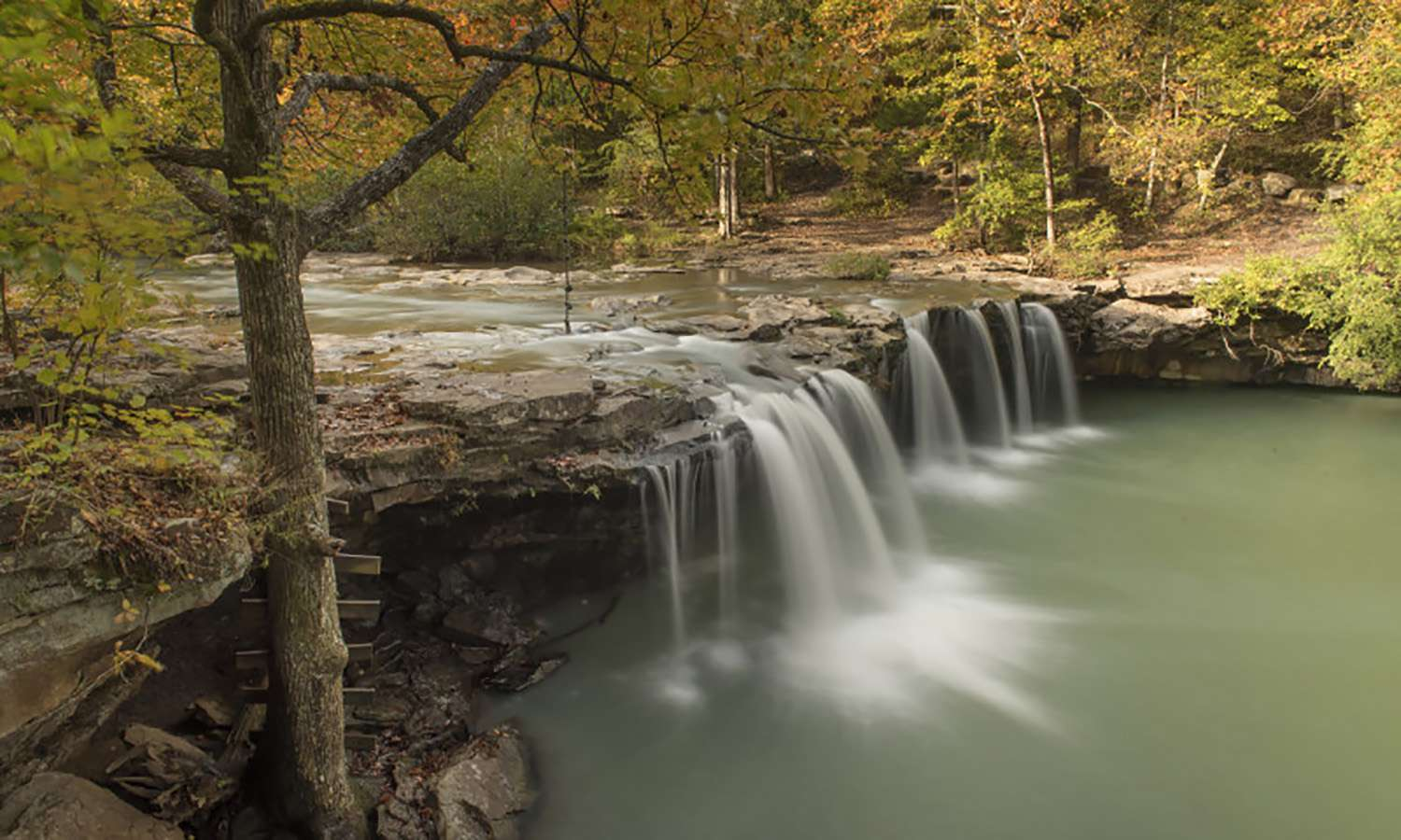One of the most beautiful waterfalls in Arkansas.