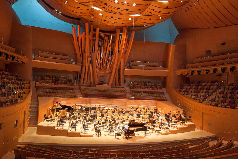 The auditorium at Disney Concert Hall