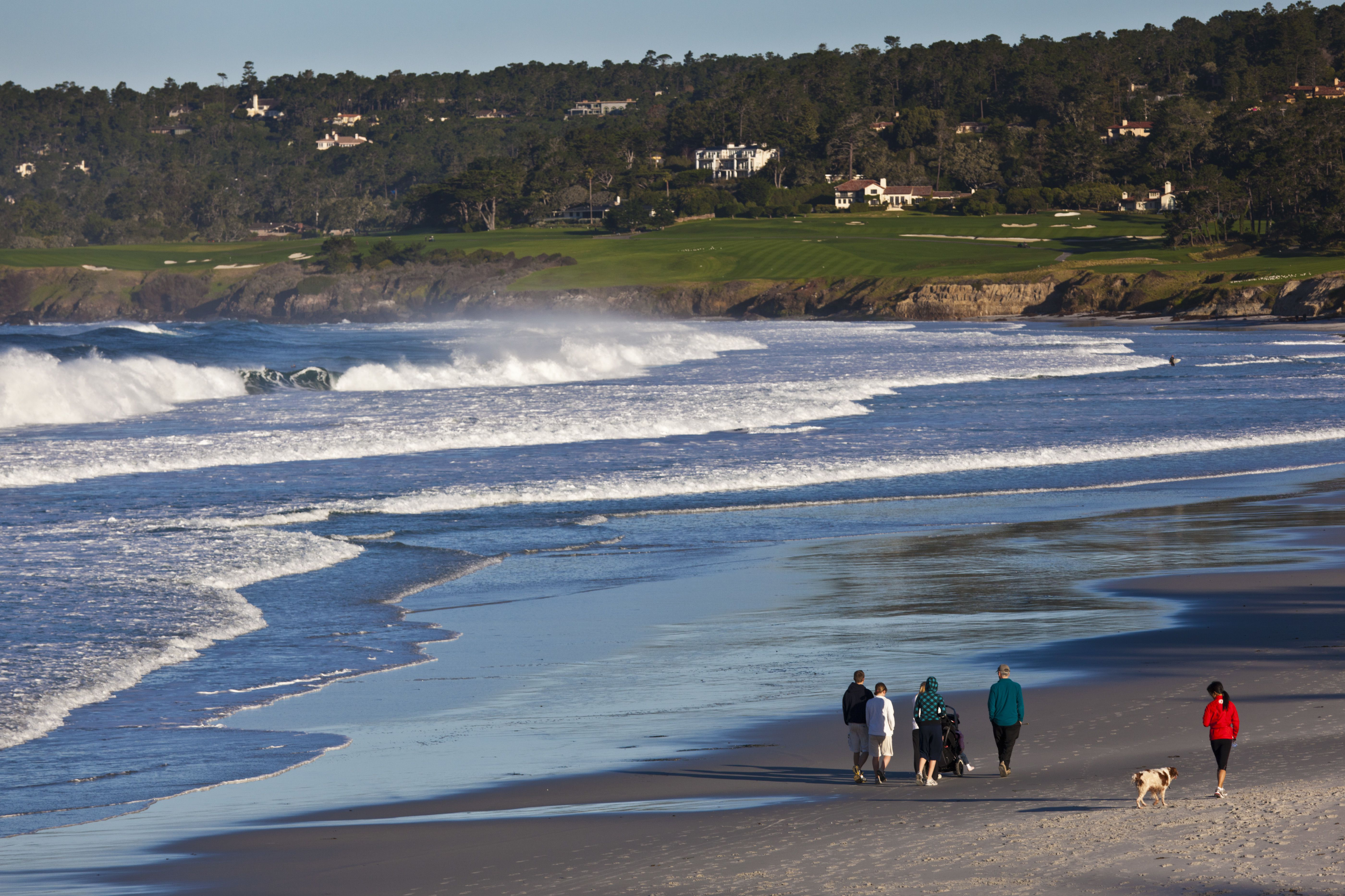 Pebble Beach Golf Course from Carmel Beach