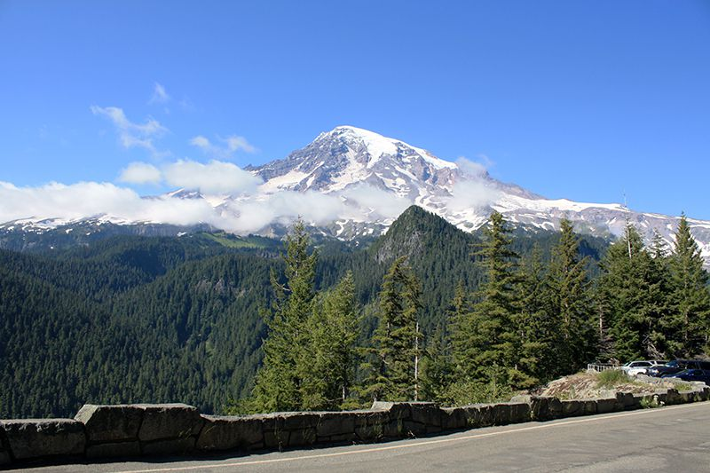 Mount Rainier from Ricksecker Point in Mount Rainier National Park