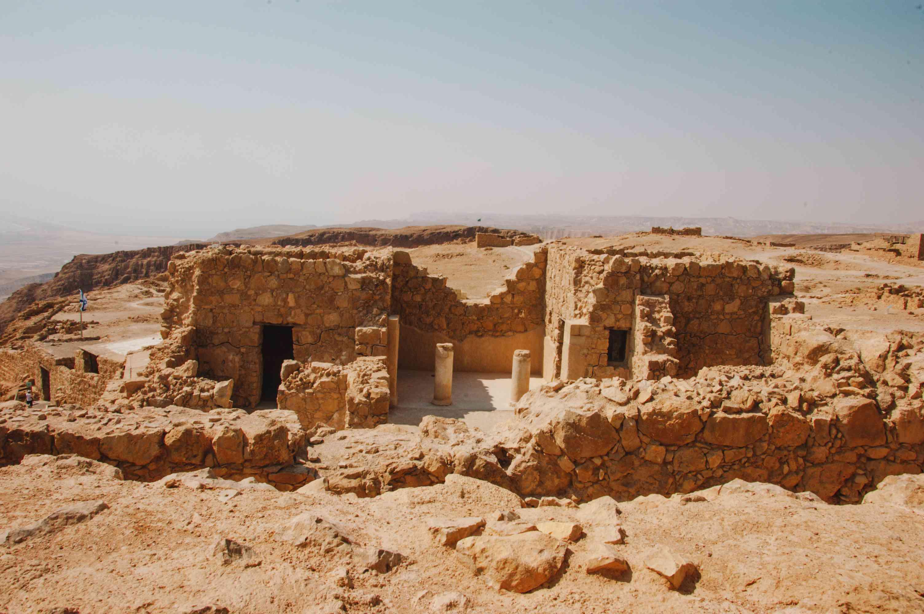 Ancient ruins in Masada