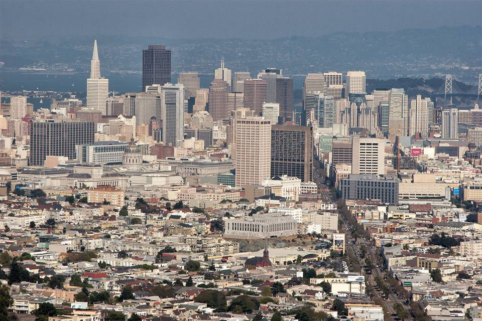 View From Twin Peaks, San Francisco