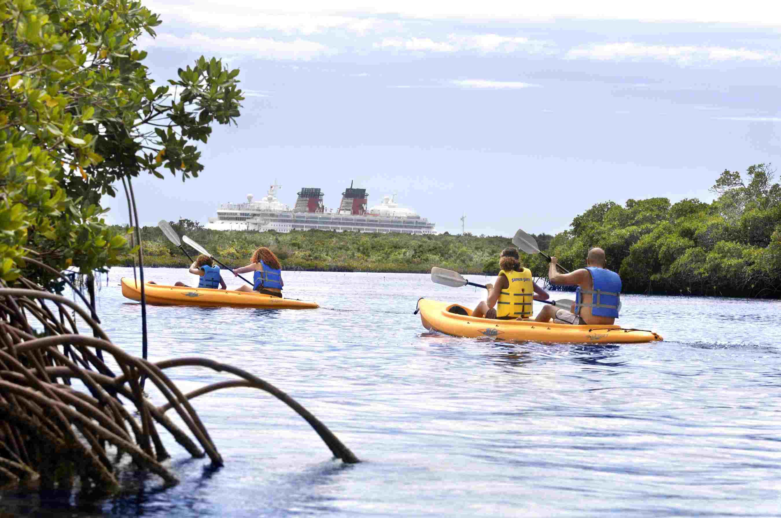 Kayaking at Castaway Cay