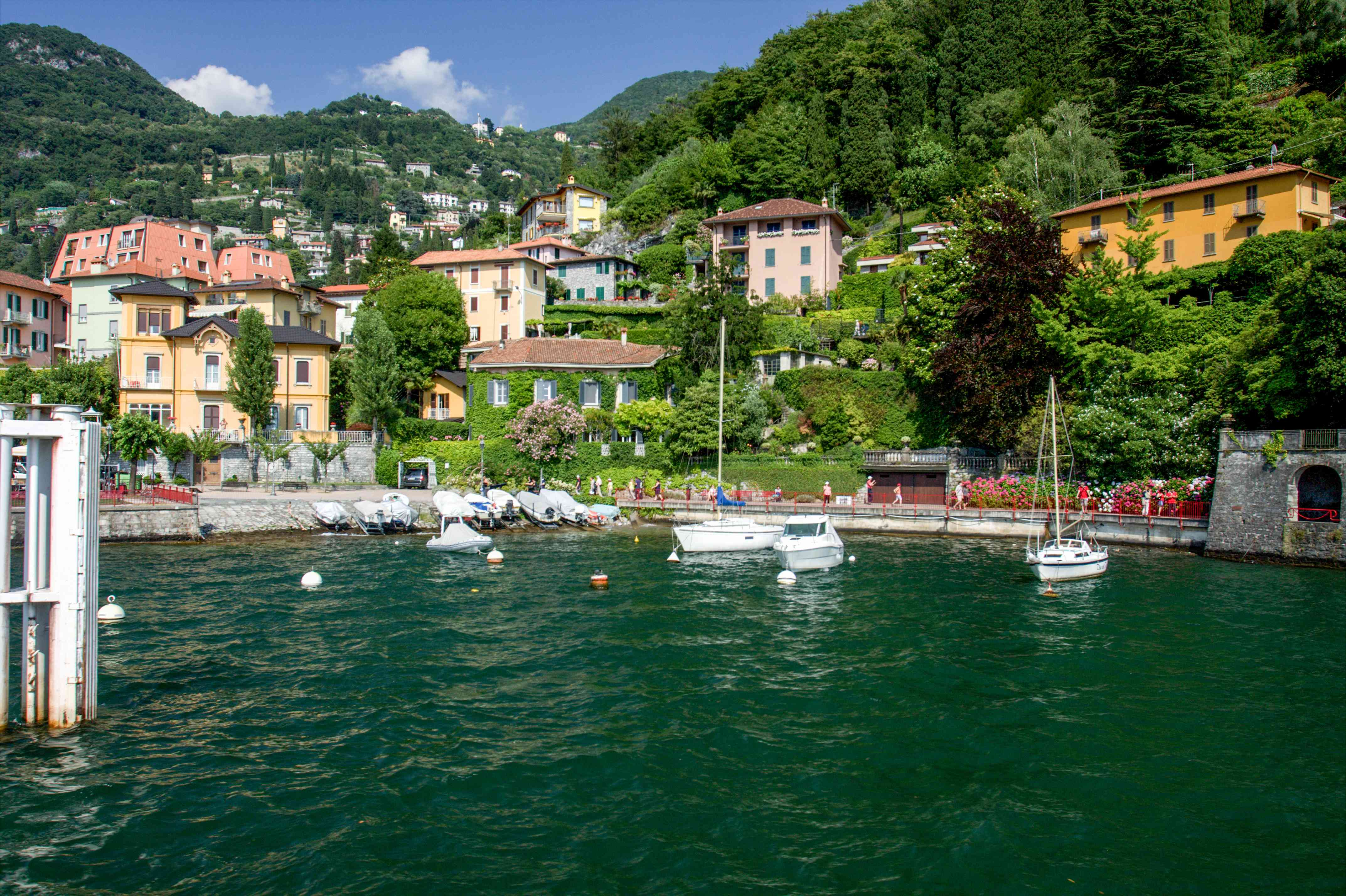 Boats on the water in Varenna