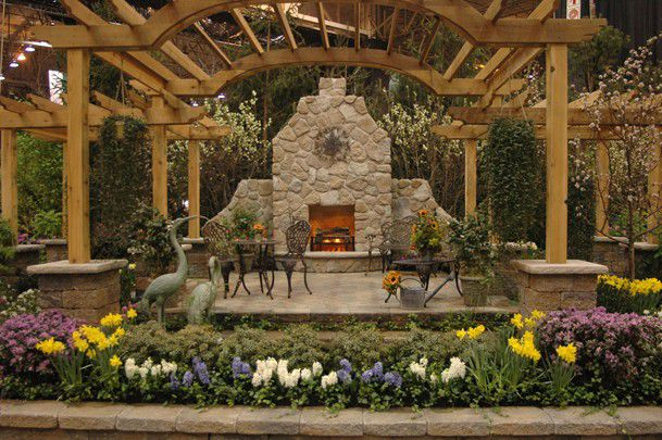 Fireplace at the NCB Home and Garden Show)