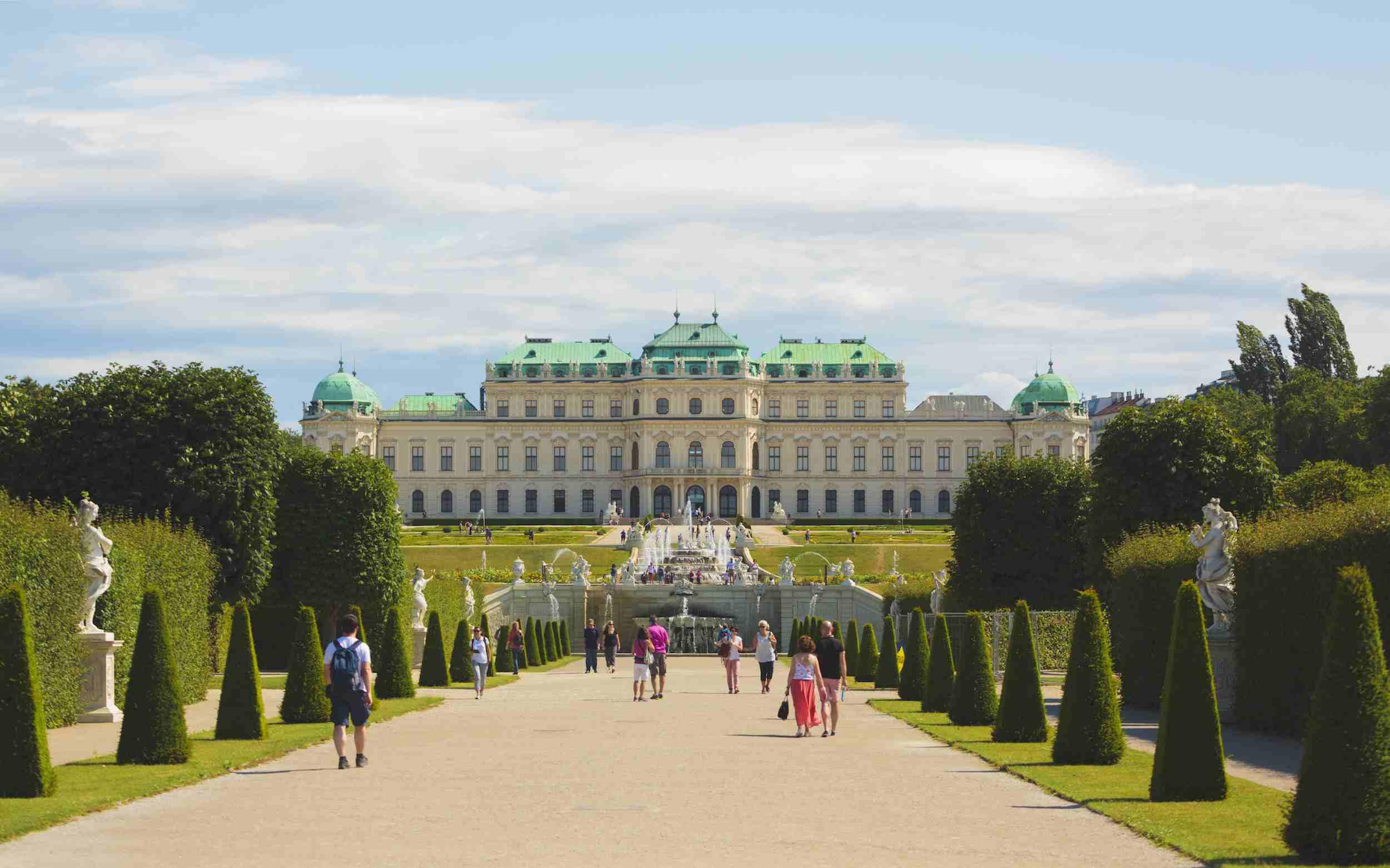 El palacio y museo Belvedere en Viena