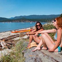 best beaches near vancouver: sunshine coast