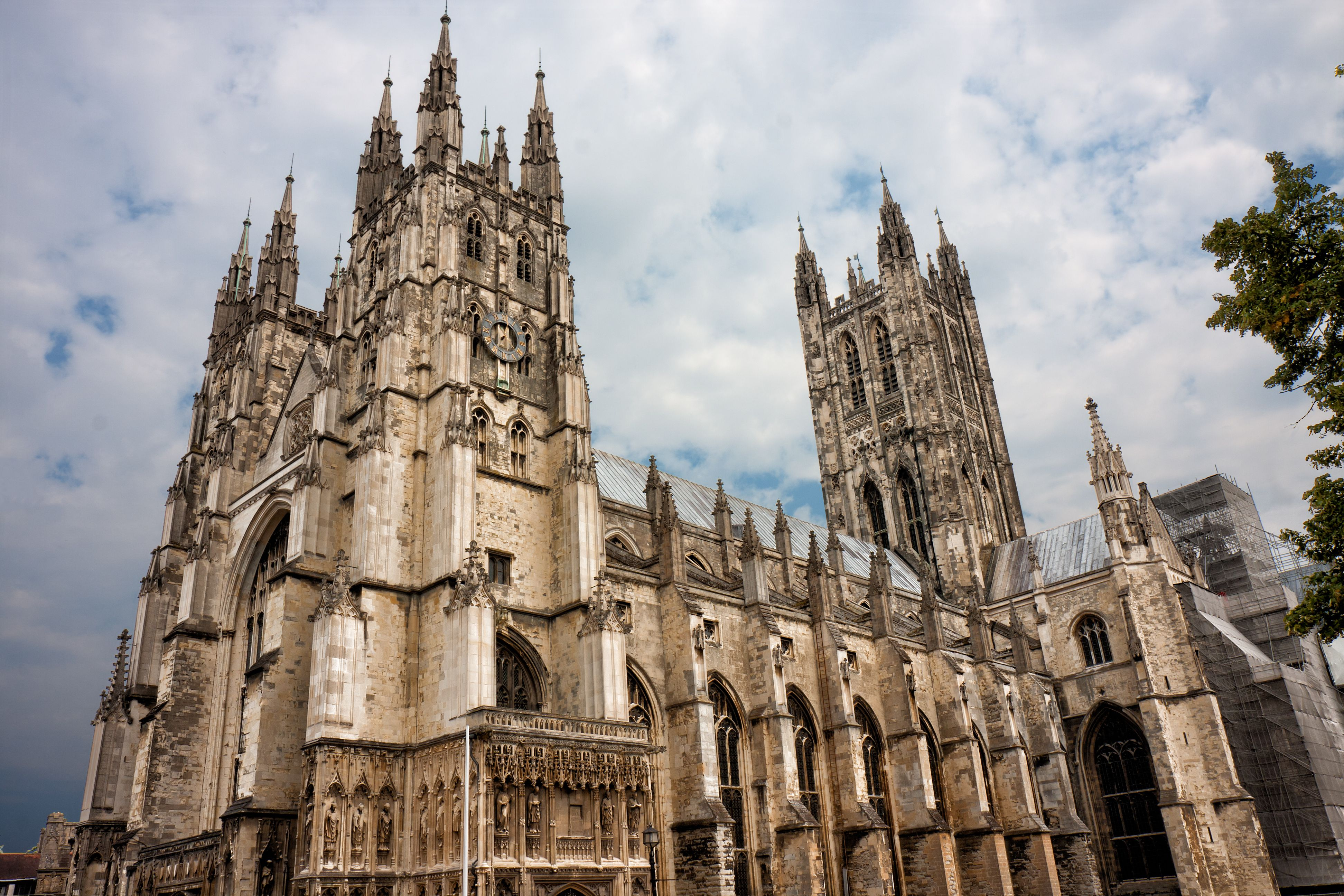 West facade of the cathedral of Canterbury