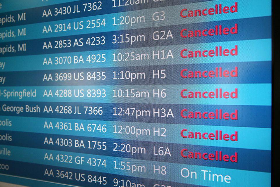 ¿Qué le debe su transportista si su viaje es cancelado por el clima?