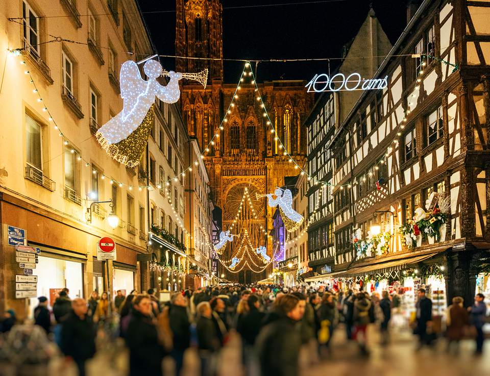 Strasbourg France Christmas Time.The Best Christmas Markets In France