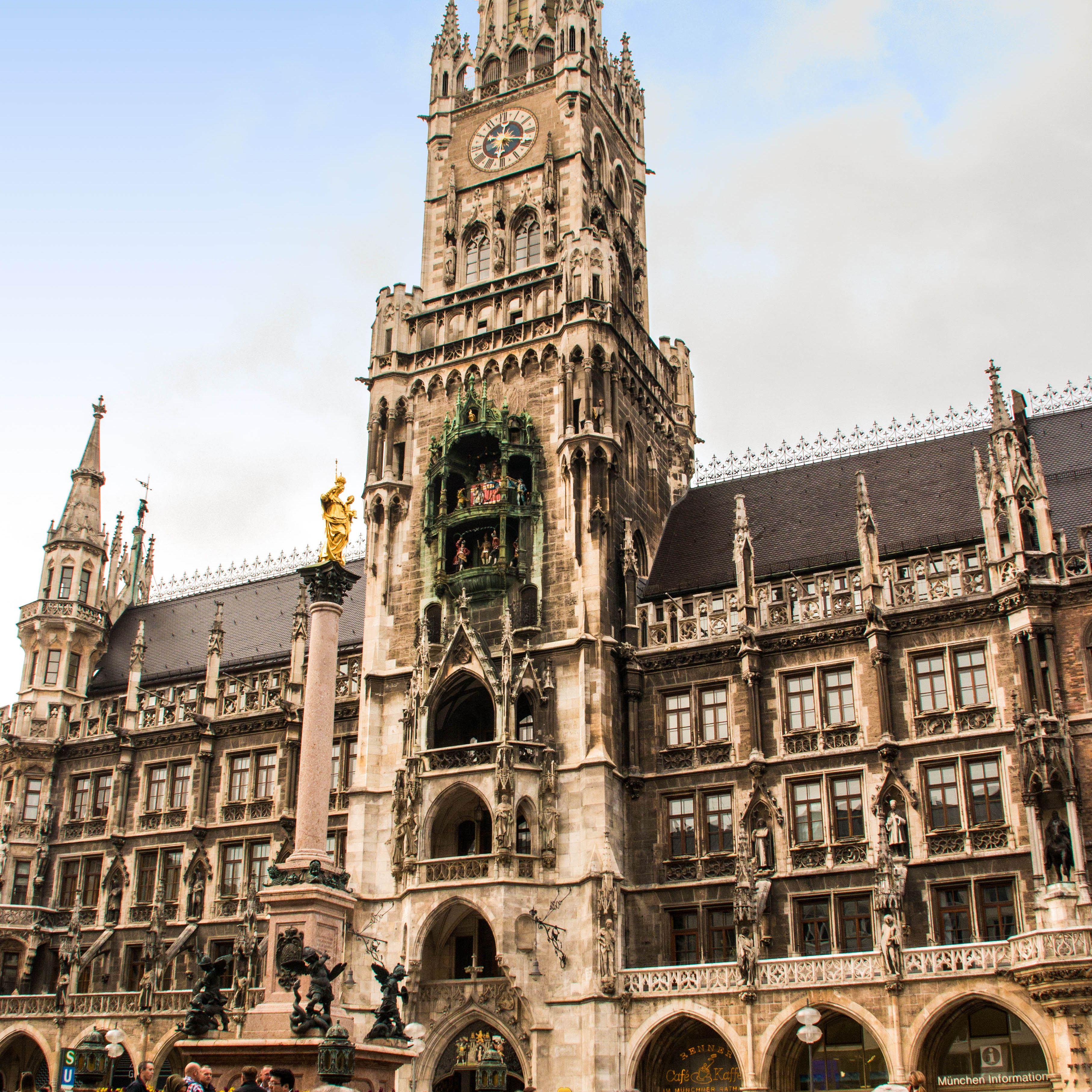 City Hall building of Munich