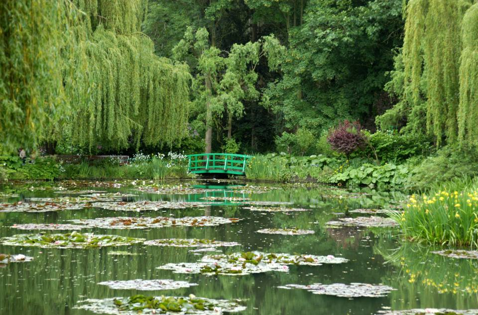 Monet's famous waterlily pond in Giverny, Normandy
