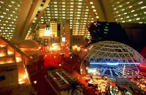 Atrium Inside The Pyramid: Pictures of the Luxor Hotel Casino