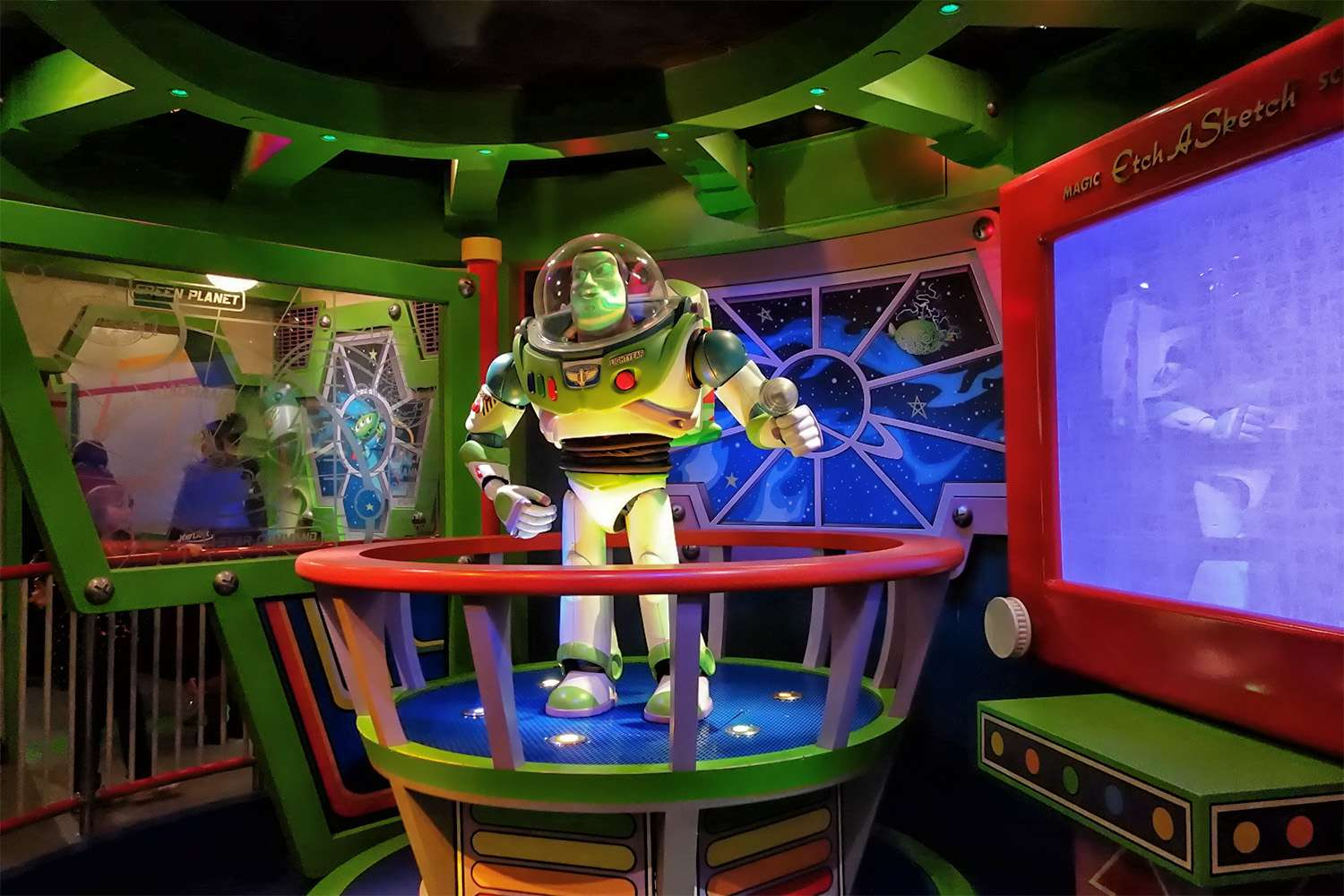 In the Queue at Buzz Lightyear Astro Blasters