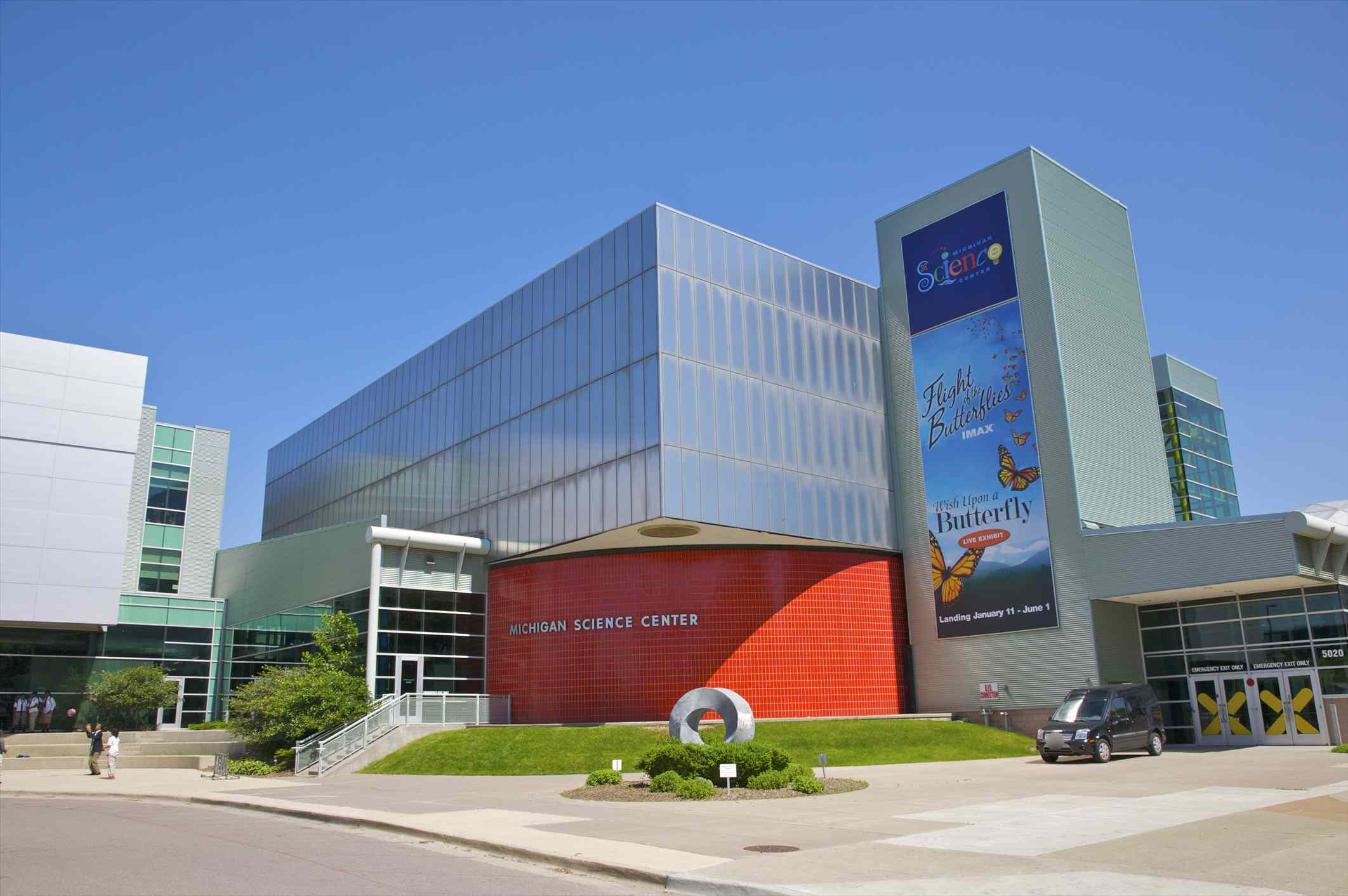 Main entrance to Michigan Science Center