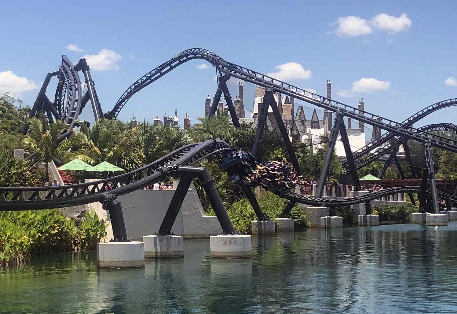 Mosasaurus Roll on VelociCoaster at Universal Orlando
