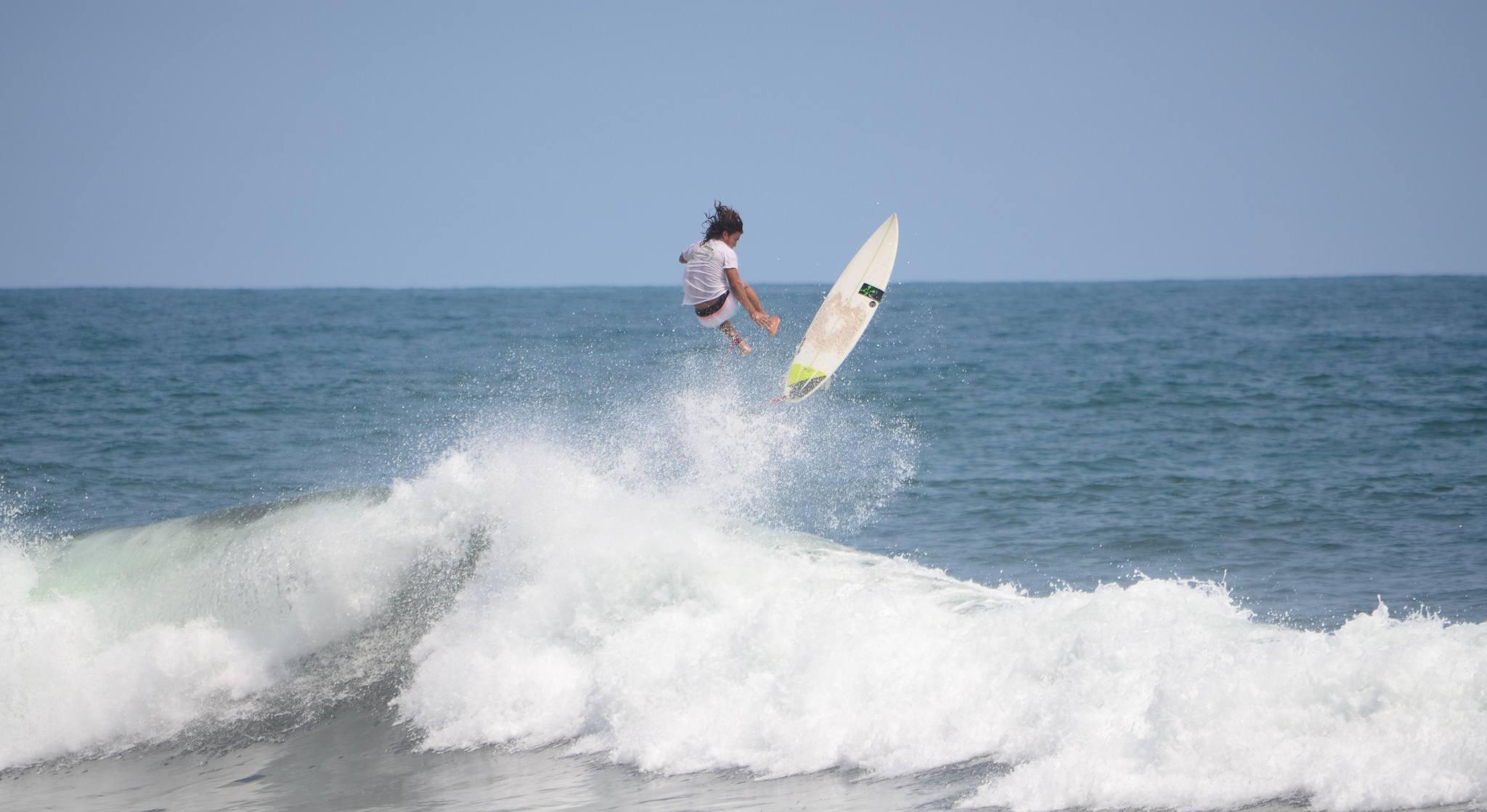 Surfing at Playa El Zonte, La Libertad, El Salvador