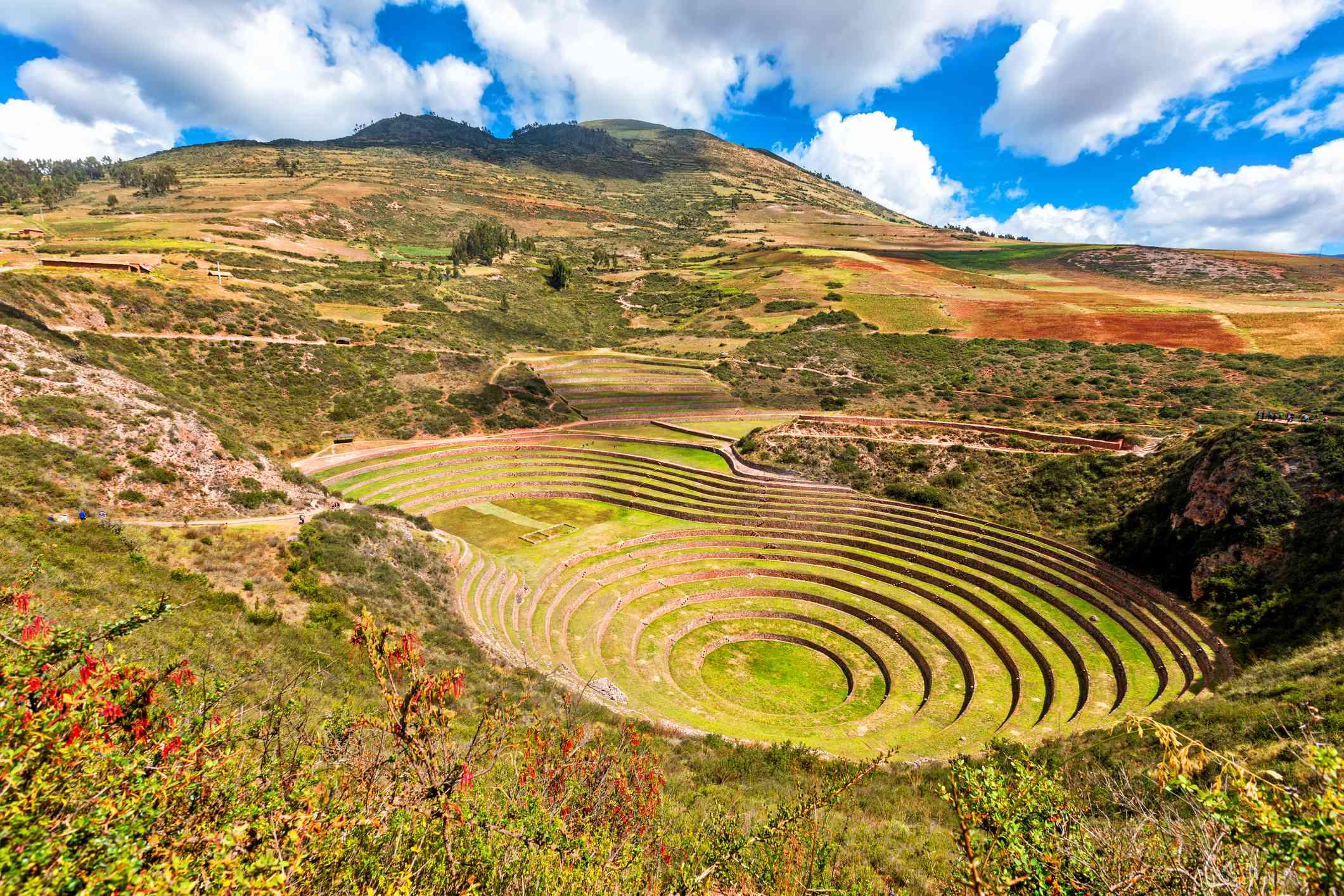 Agricultural terracing of Moray, Peru