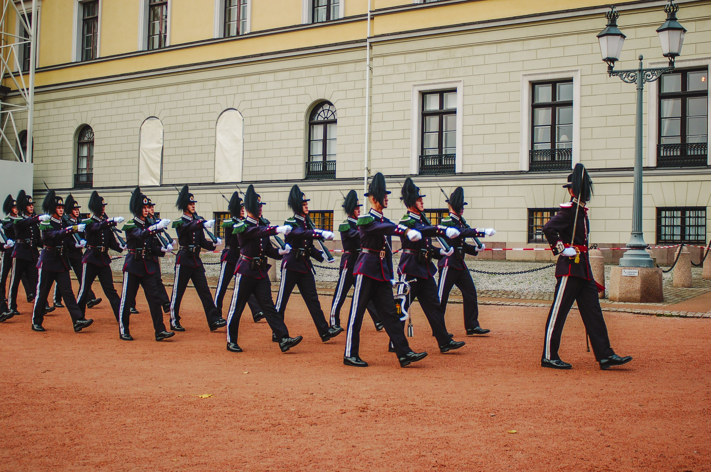 Visit the Changing of the Guard at Oslo Palace in Norway