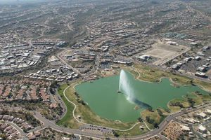 fountain from the air