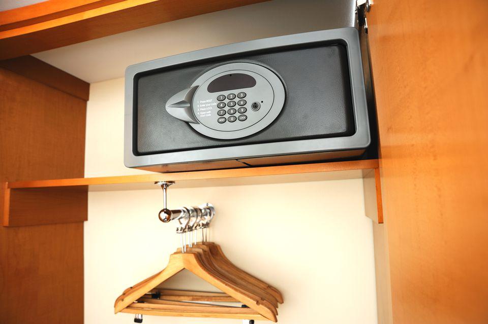 Safe in a hotel closet