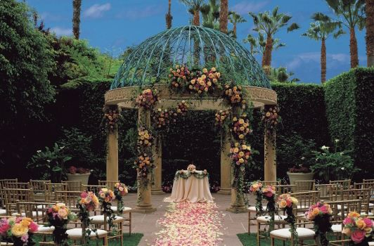 Rose Garden Wedding Ceremony at Ritz-Carlton Marina del Rey in Los Angeles