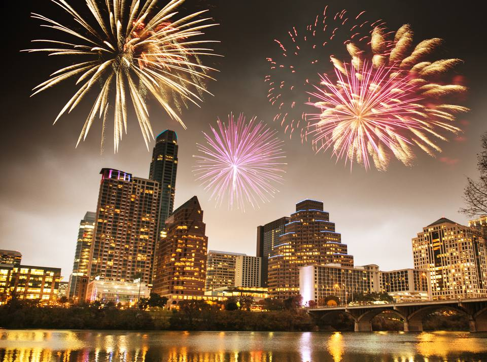 Fourth of July fireworks in Austin