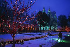Mormon Tabernacle and Temple on Temple Square