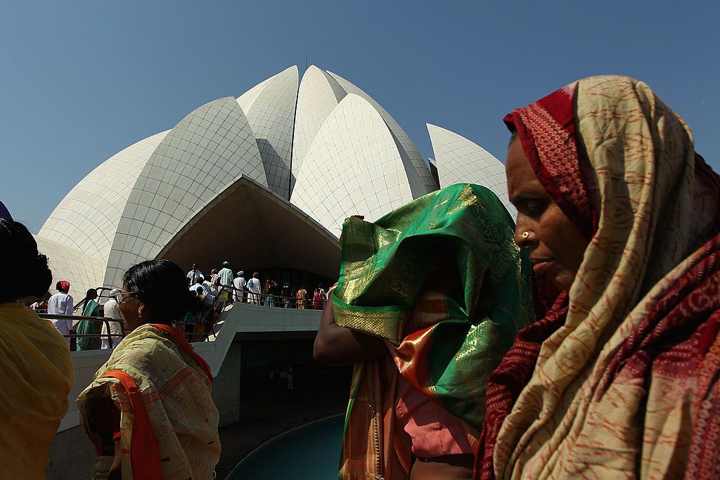 The Bahá'i House of Worship known as the 'Lotus Temple'