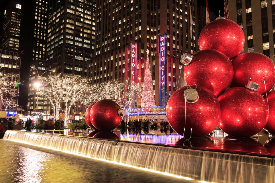 christmas decorations and radio city at night - Best Place For Christmas Decorations