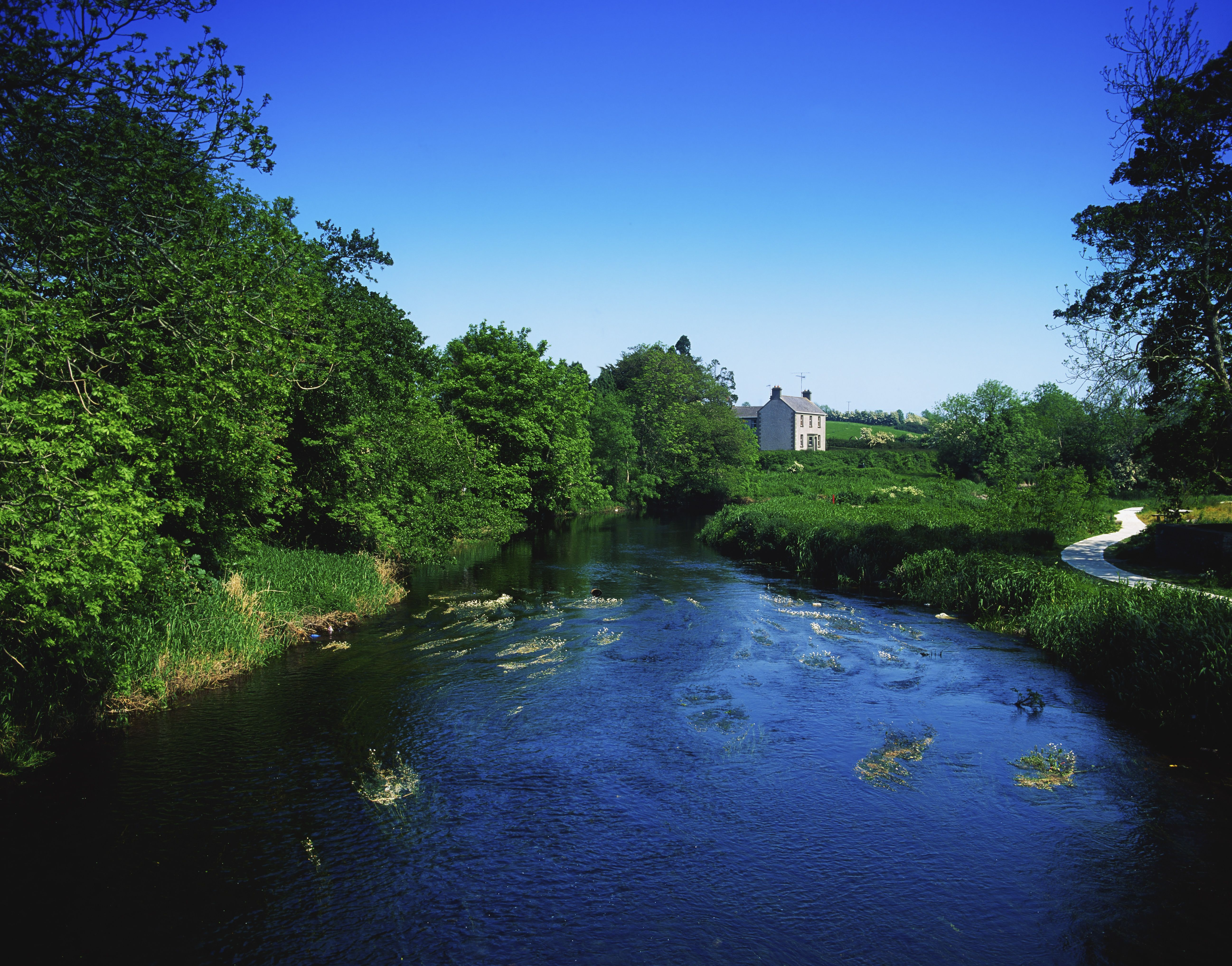 Co Monaghan, The Fane River at Inishkeen, Ireland