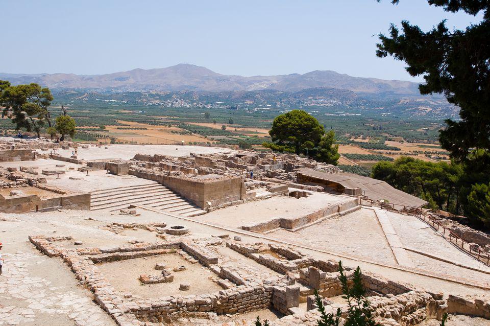 Phaistos palace on Crete island, Greece.
