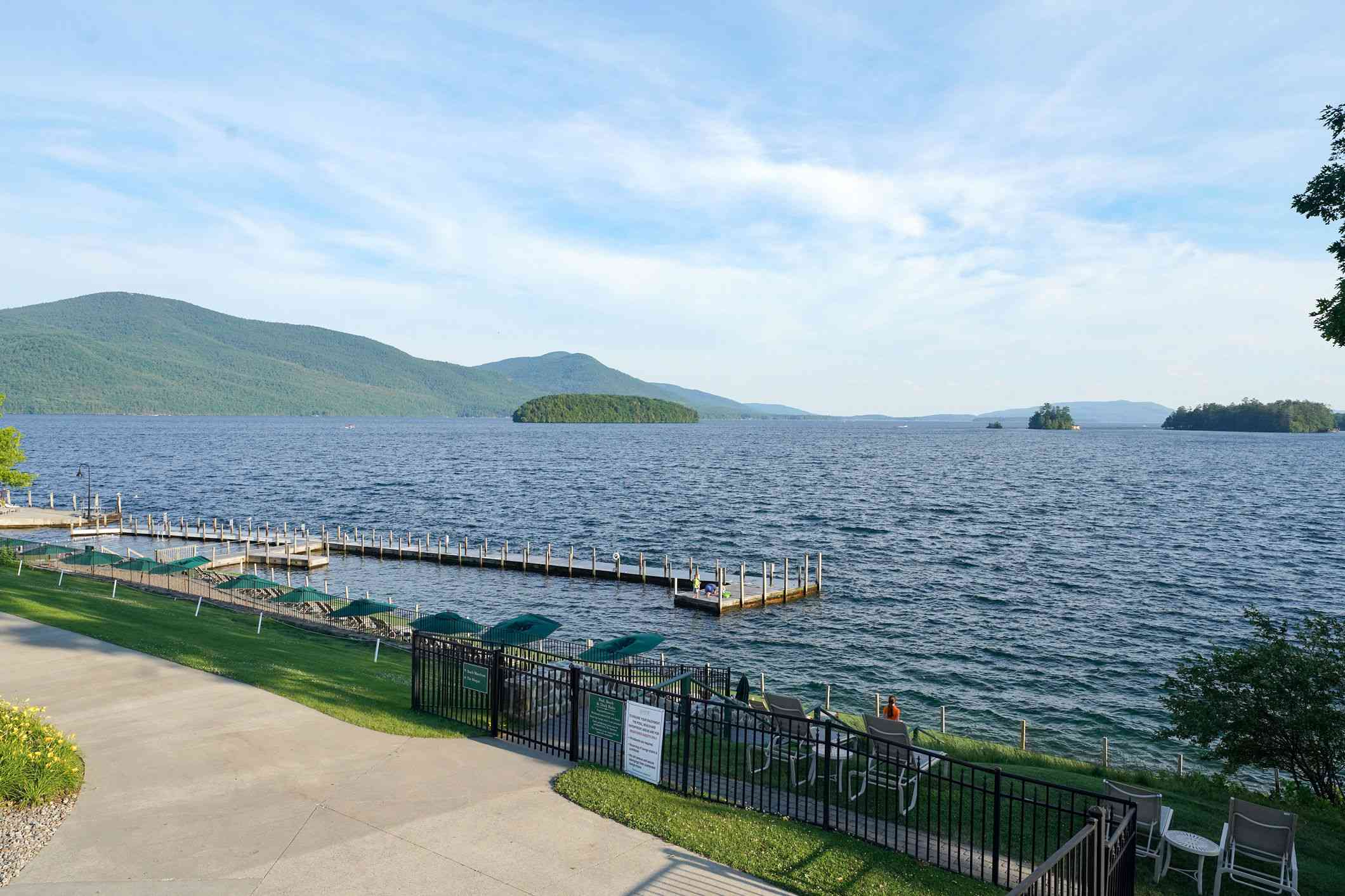 View of the lake from the Sagamore Hotel