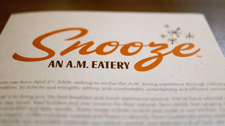 Snooze A.M. Eatery. Denver, CO