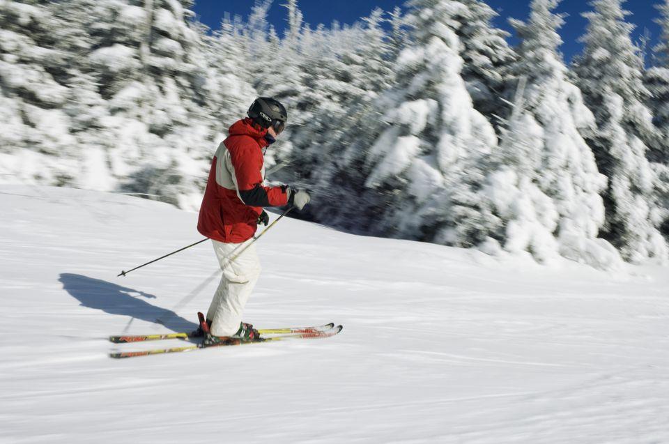 Skiing on the slopes at Killington Ski Resort