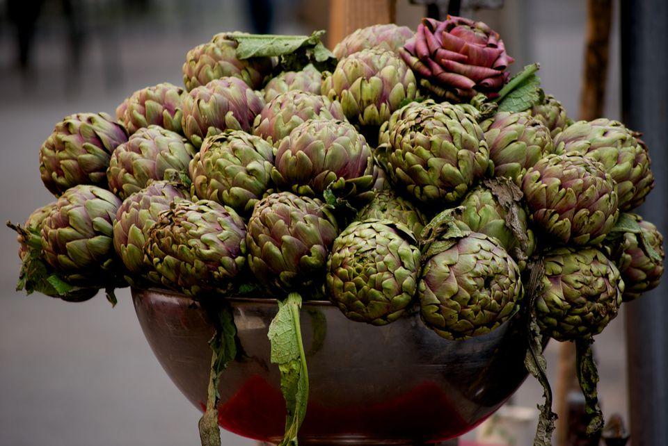 Rome's famous purple artichokes