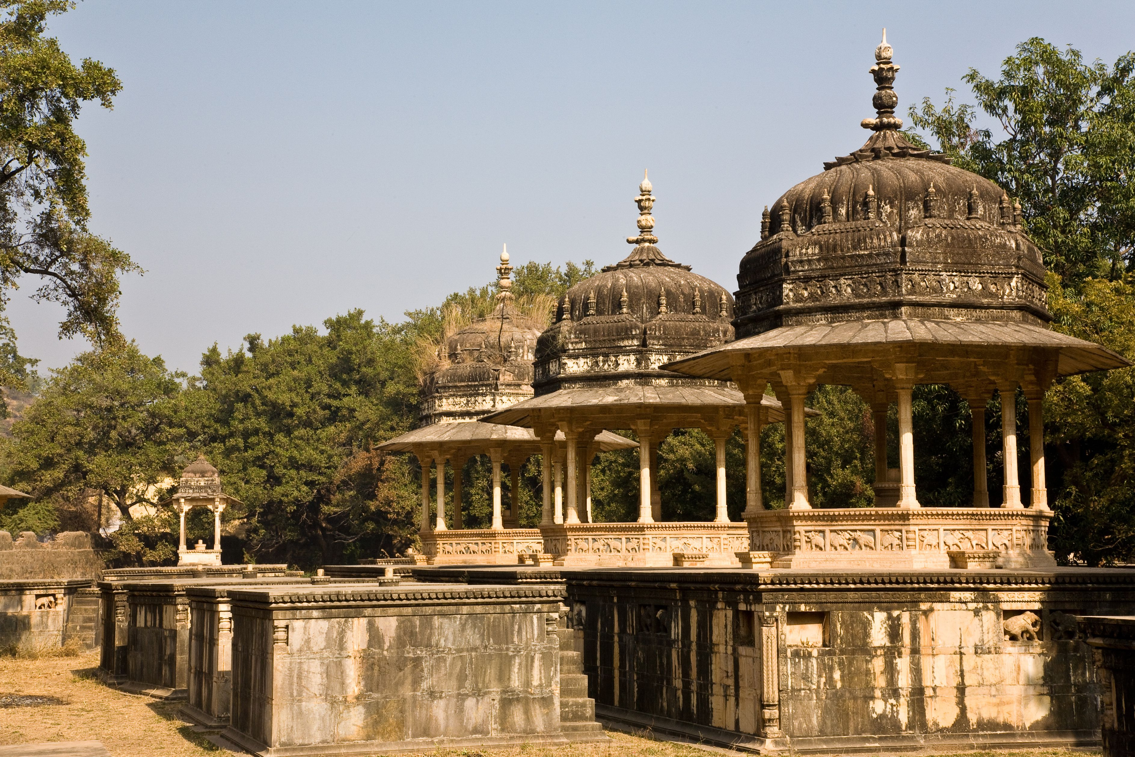 India, Rajasthan State, Bundi, cenotaphs