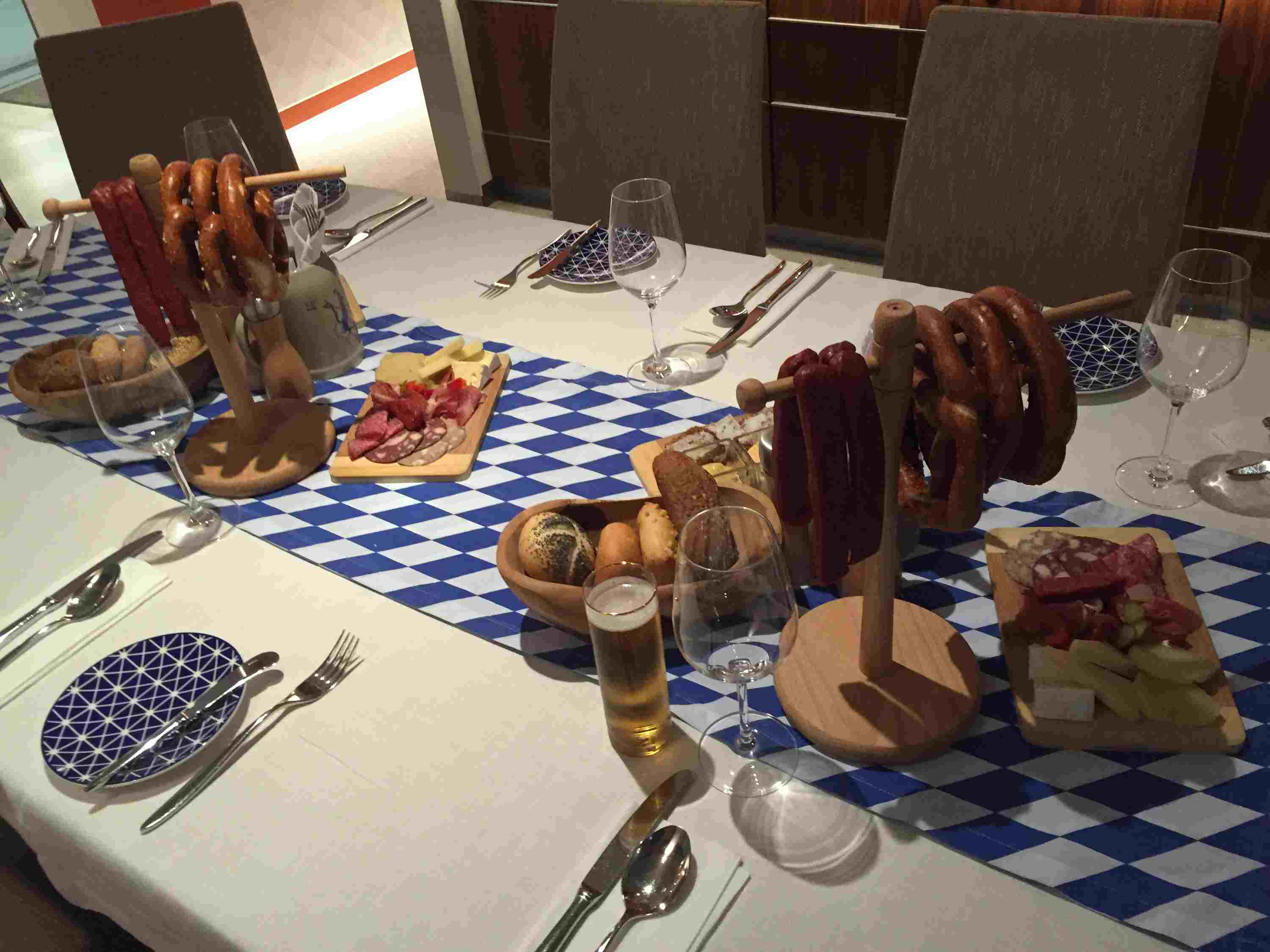 German dinner on the Viking Elbe River cruise ships