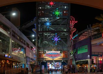 Fremont Street at night