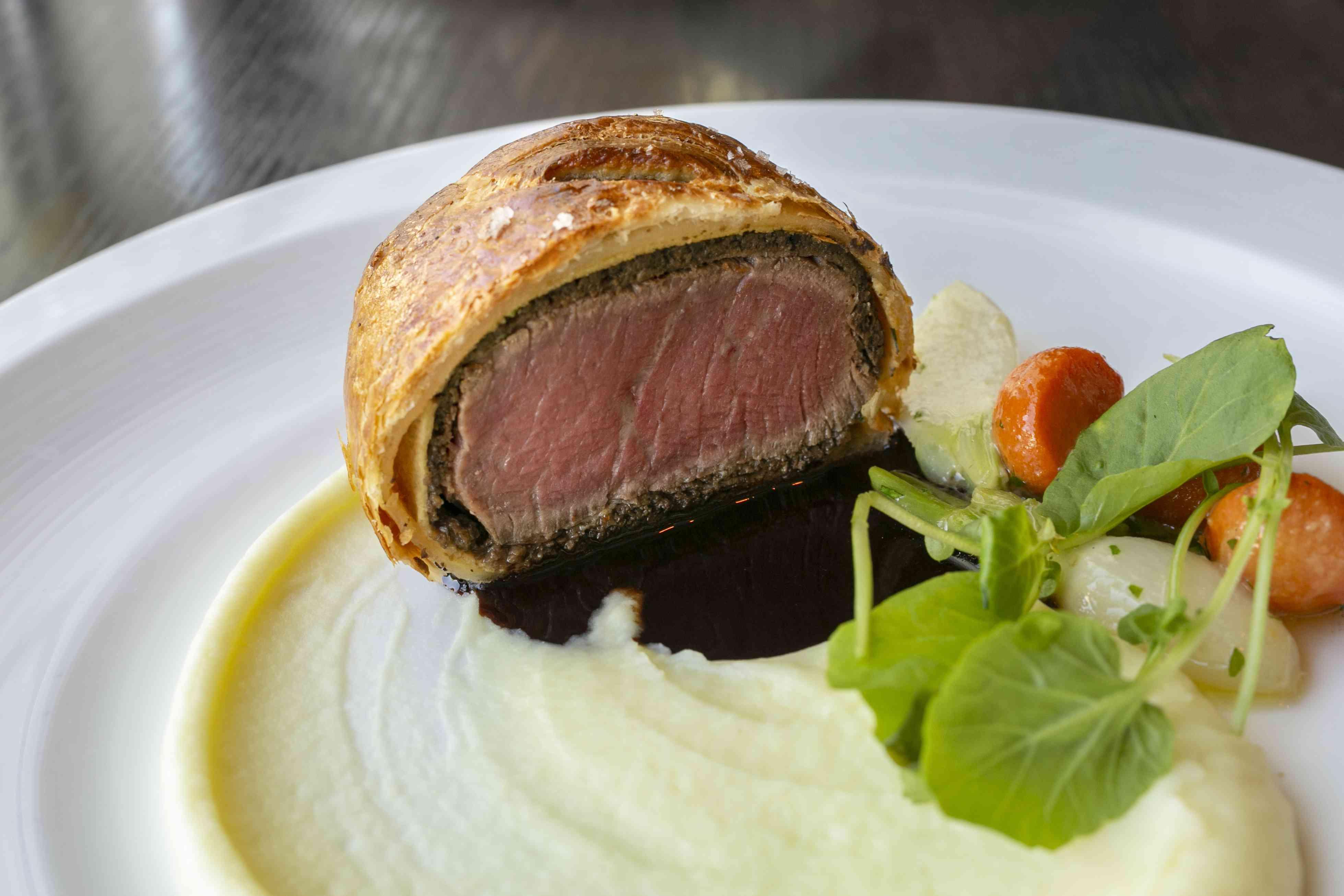 Comida de lujo, carne de res Wellington