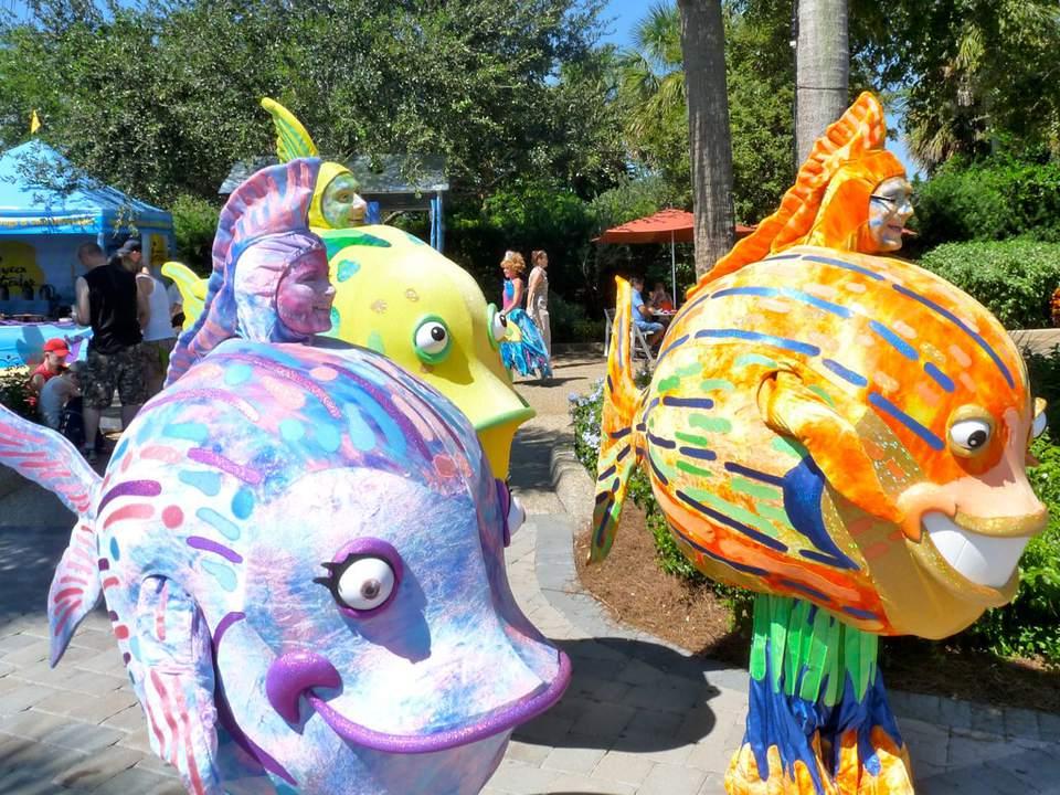 fantasea carnival during seaworld spooktacular, orlando florida