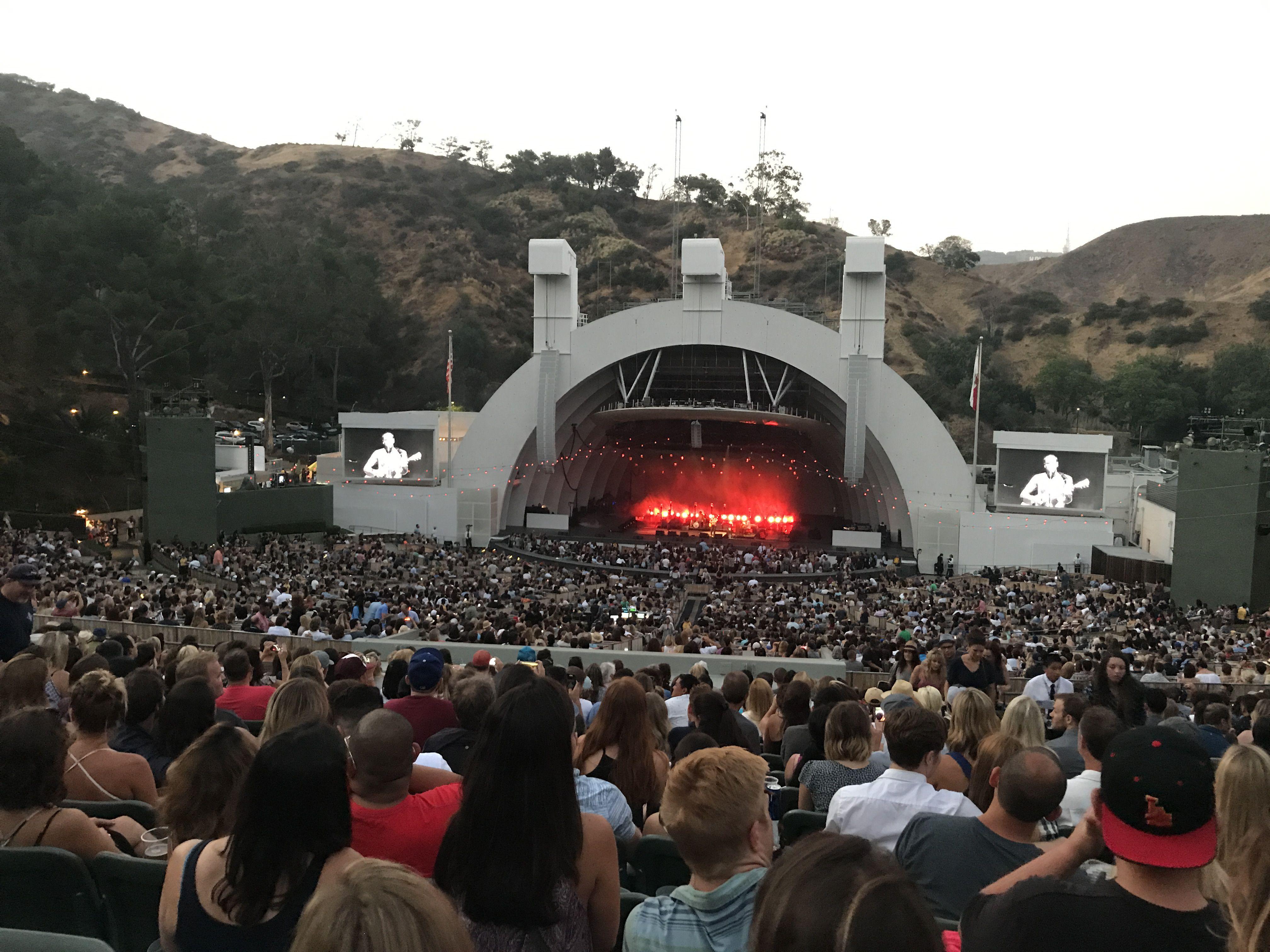 Concierto al aire libre en el Hollywood Bowl en California