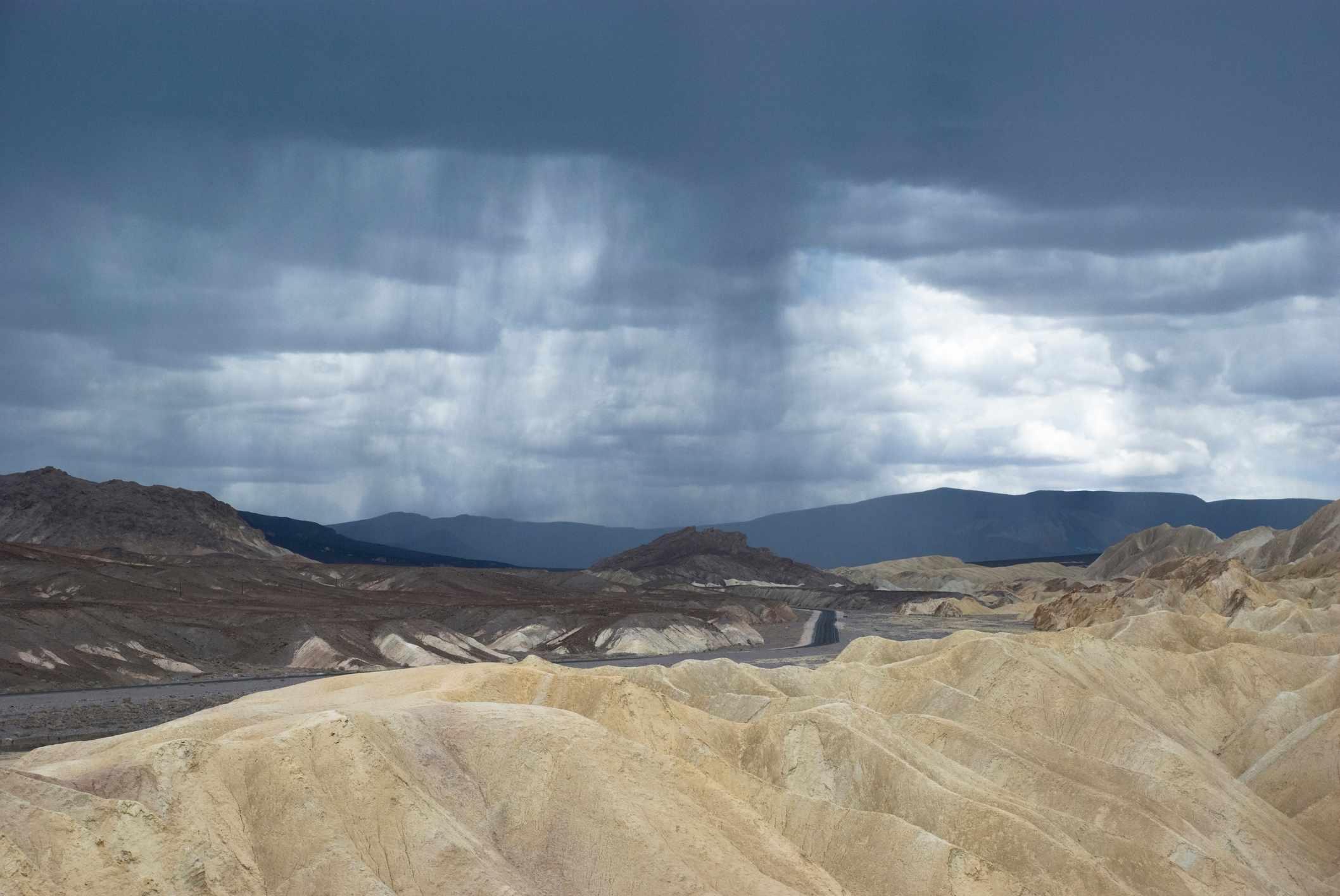 Rainstorm in Death Valley