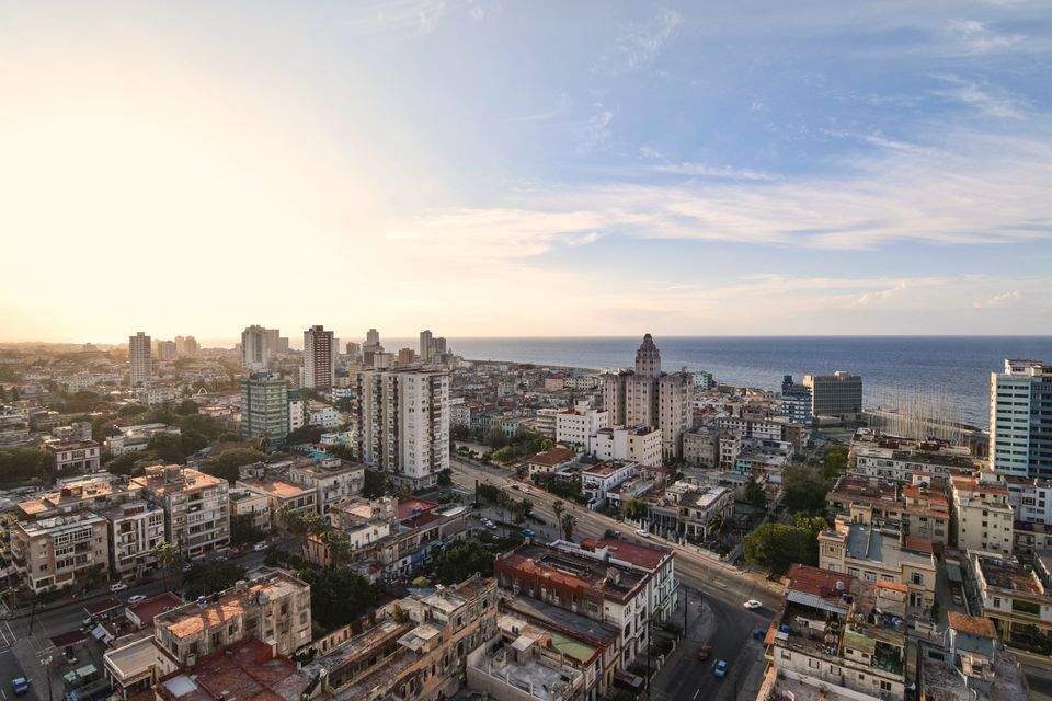 Aerial view of the Havana cityscape