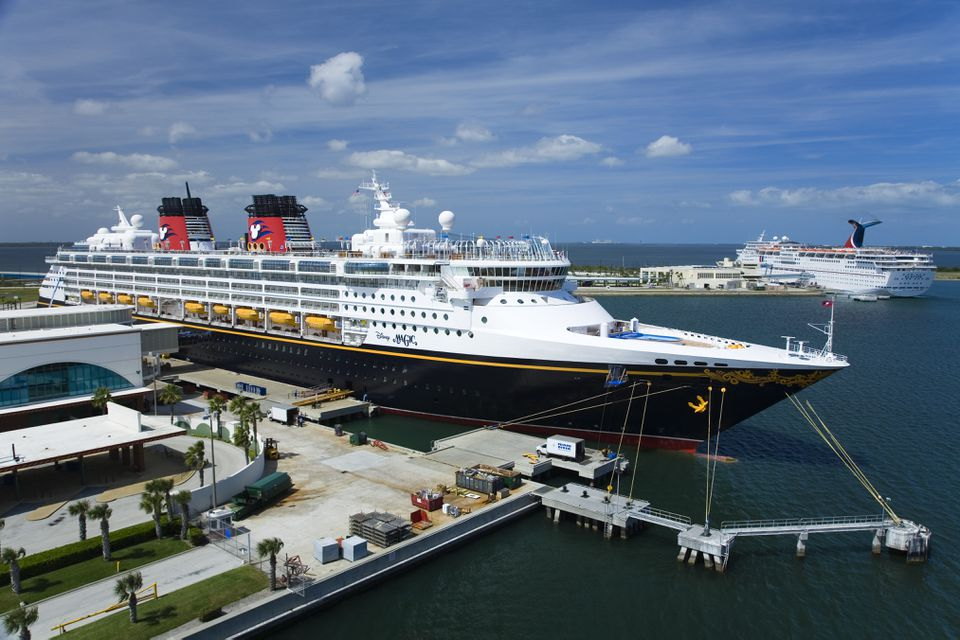 Disney Cruise Ship at dock, Port Canaveral.