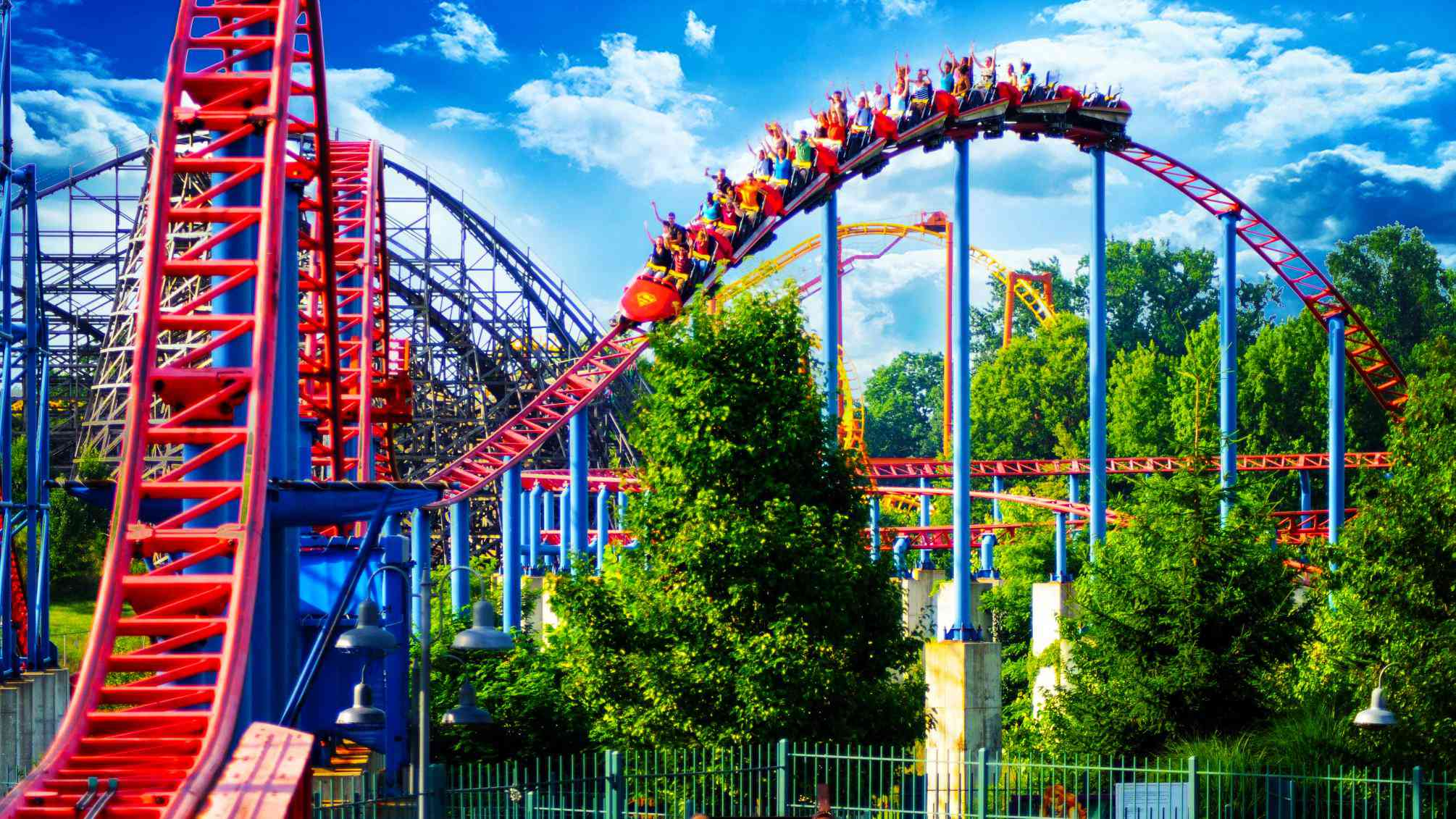 Roller Coaster at Six Flags New England