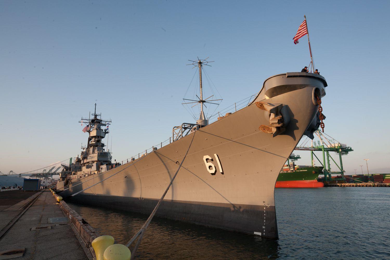 USS Iowa en San Pedro, Los Ángeles, CA