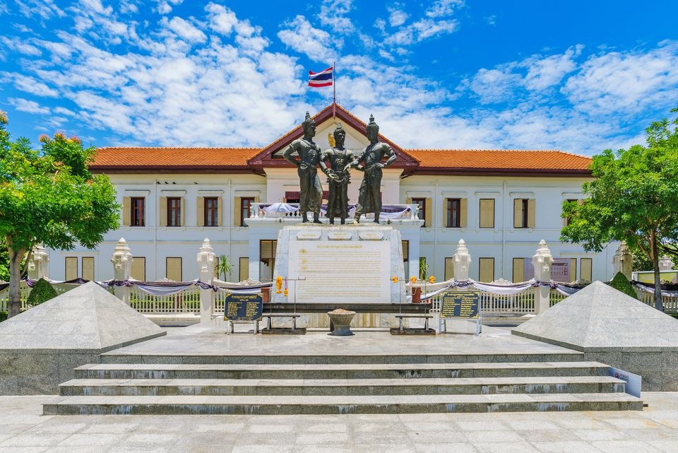 Three Kings Monument in Chiang Mai Old City
