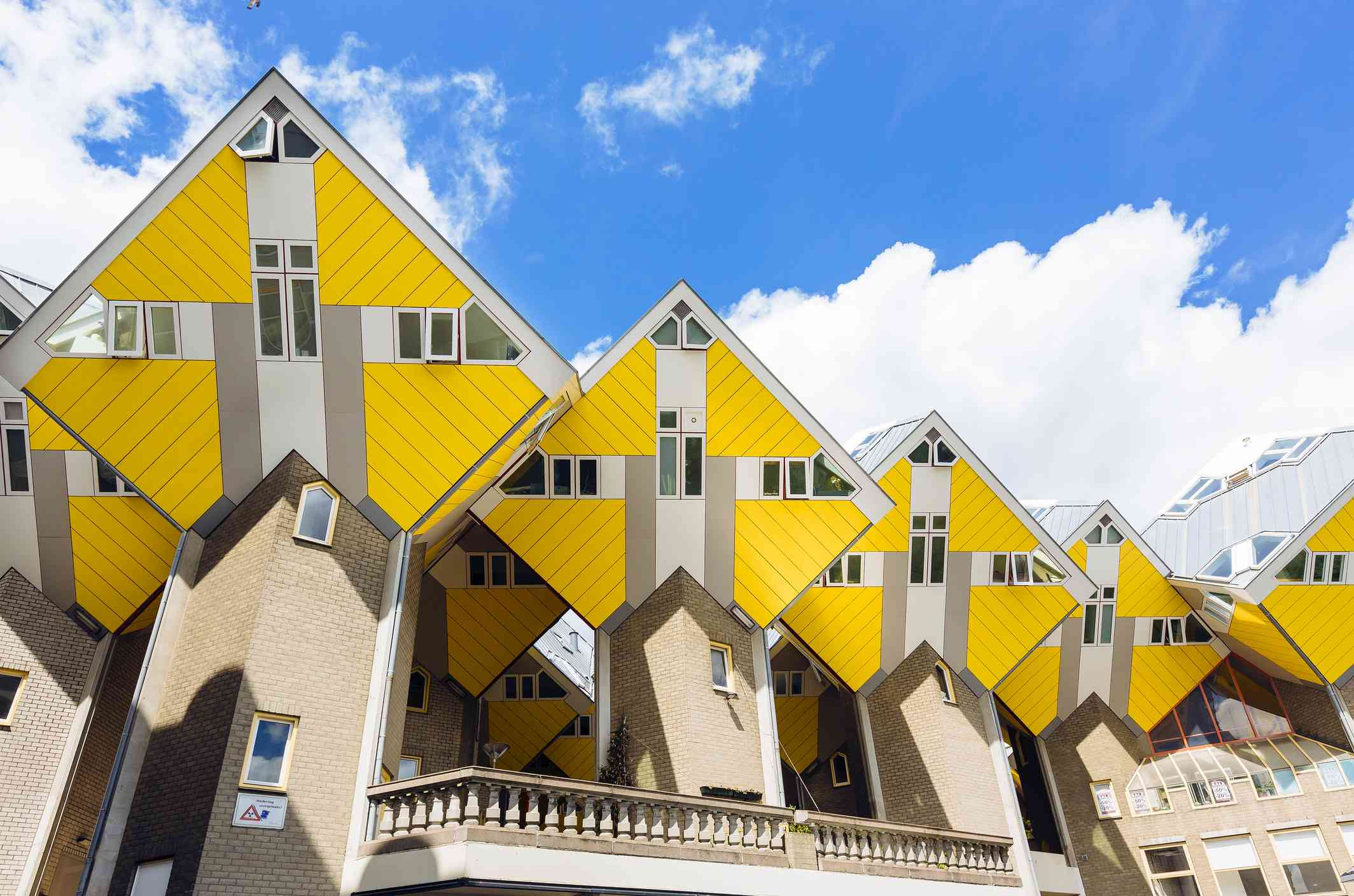 Yellow cubic houses in Rotterdam, Netherlands